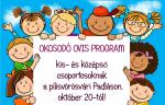 OKOSODÓ OVIS program kis- és középső csoportosoknak Pilisvörösváron, október 20-tól!